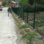 montaža panelne ograde ulica