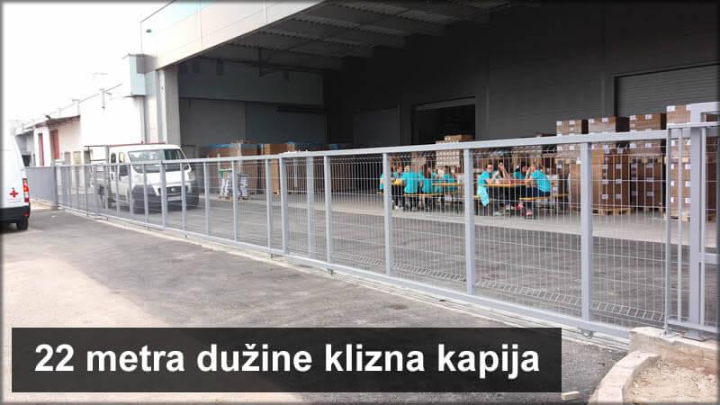 Klizna kapija 22 metra